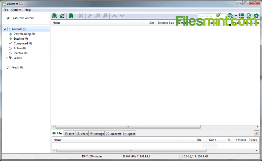 uTorrent Screenshot PNG