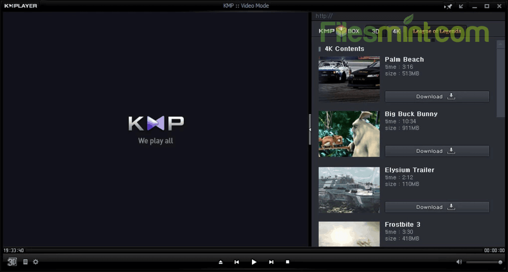 KMPlayer Screenshot from Windows