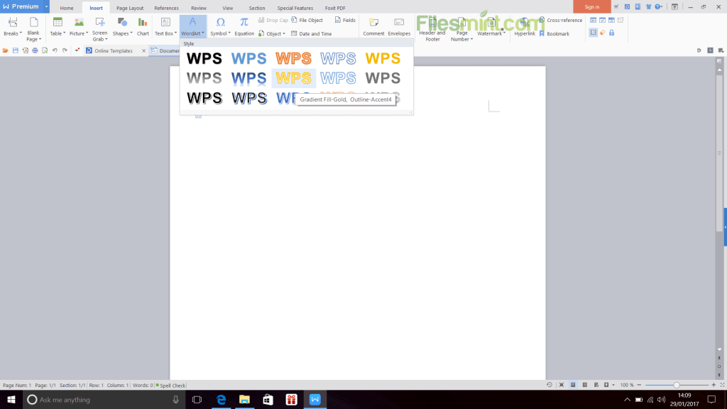WPS Office Writer Screenshot