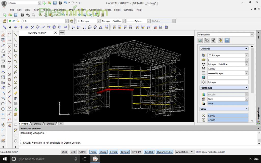 CorelCAD Screenshot