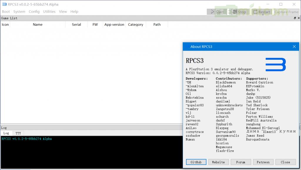PS3 Emulator Screenshot