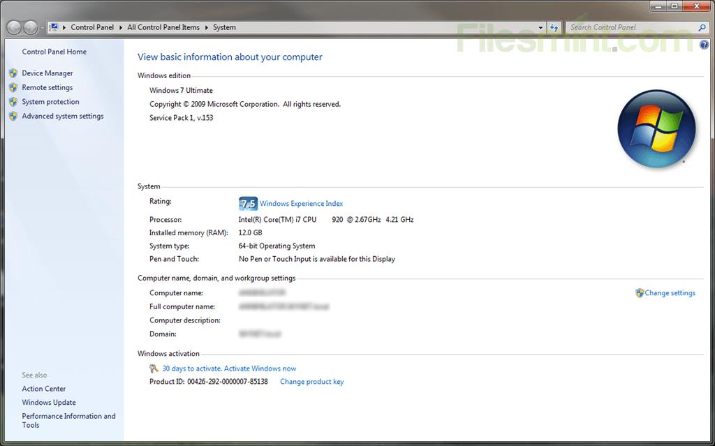 Windows 7 Service Pack 1 Screenshot