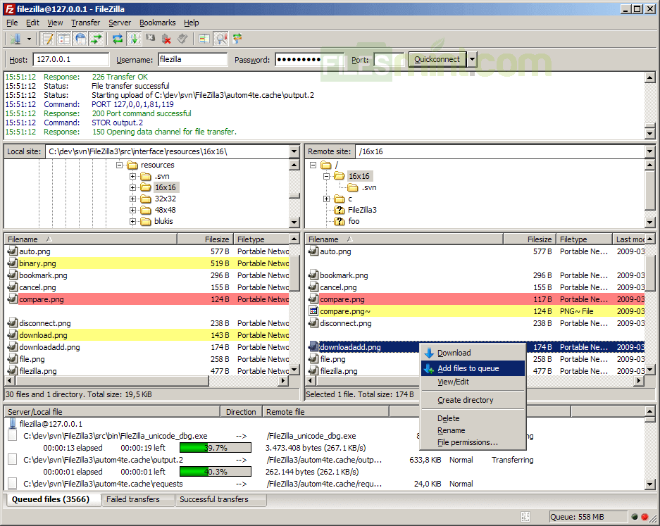 FileZilla Screenshot
