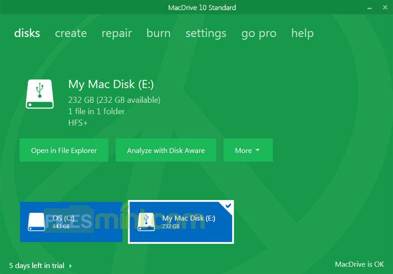 MacDrive Screenshot