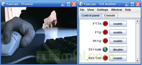 Yawcam Screenshot