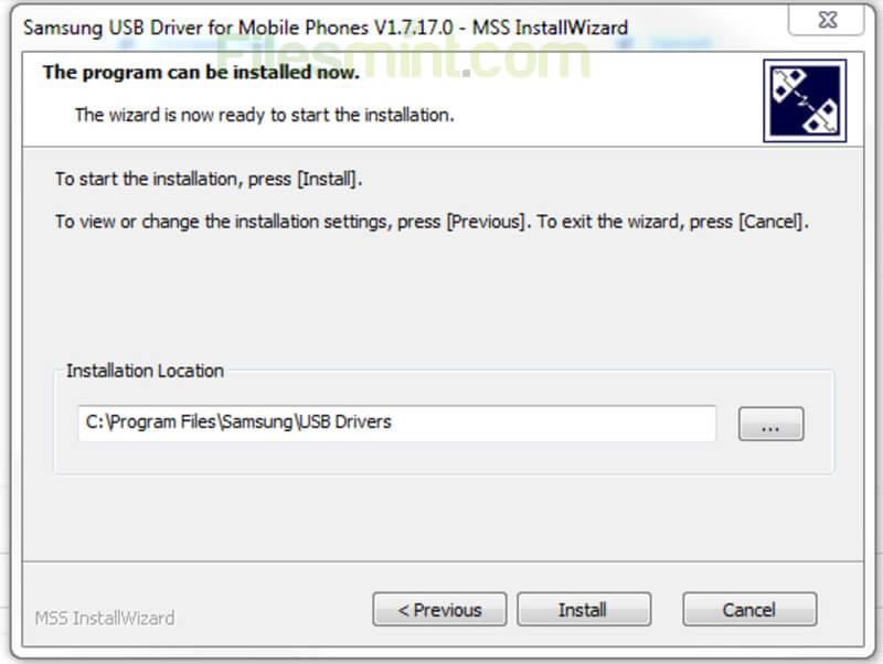Samsung USB Drivers Screenshot