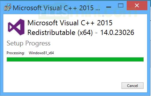 Microsoft Visual C++ 2015 Redistributable Screenshot