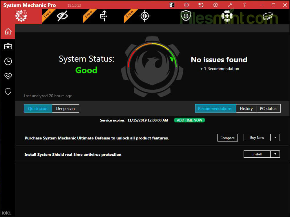 System Mechanic Pro Screenshot