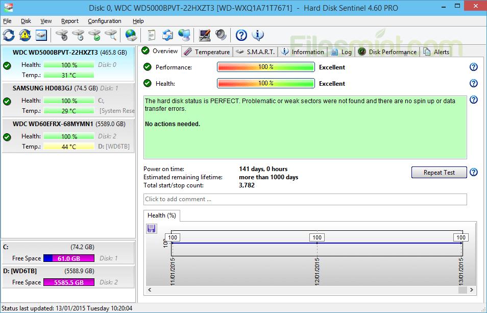 Hard Disk Sentinel Screenshot