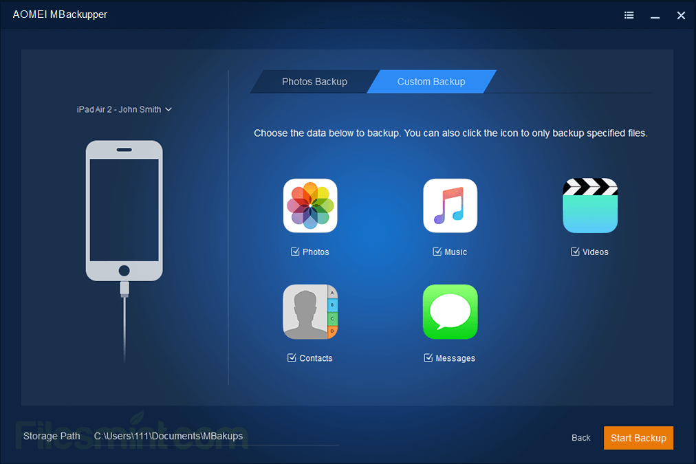 AOMEI MBackupper Screenshot