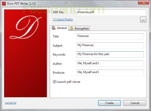 Doro PDF Writer Screenshot