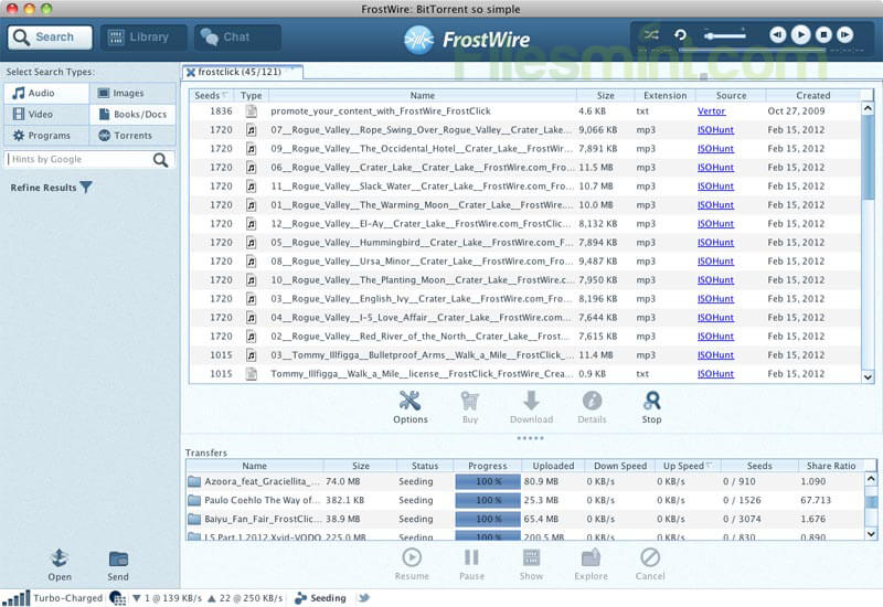 FrostWire Screenshot