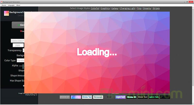 Background Generator Desktop Screenshot