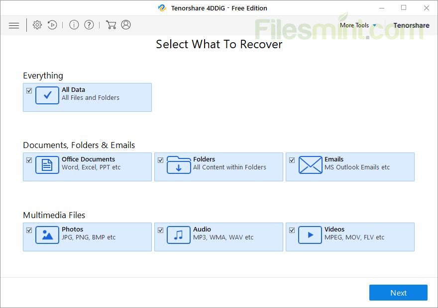 Tenorshare 4DDiG Screenshot