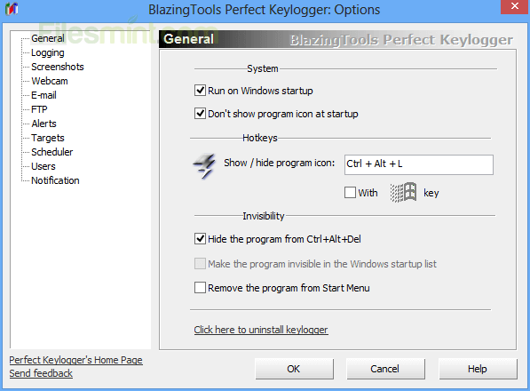 Perfect Keylogger Screenshot