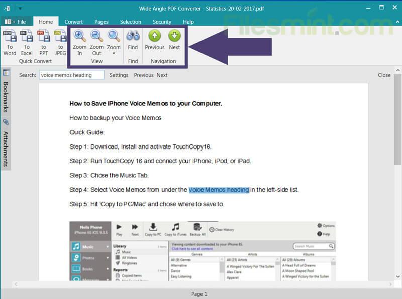 Wide Angle PDF Converter Screenshot