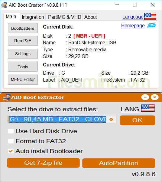 AIO Boot Screenshot