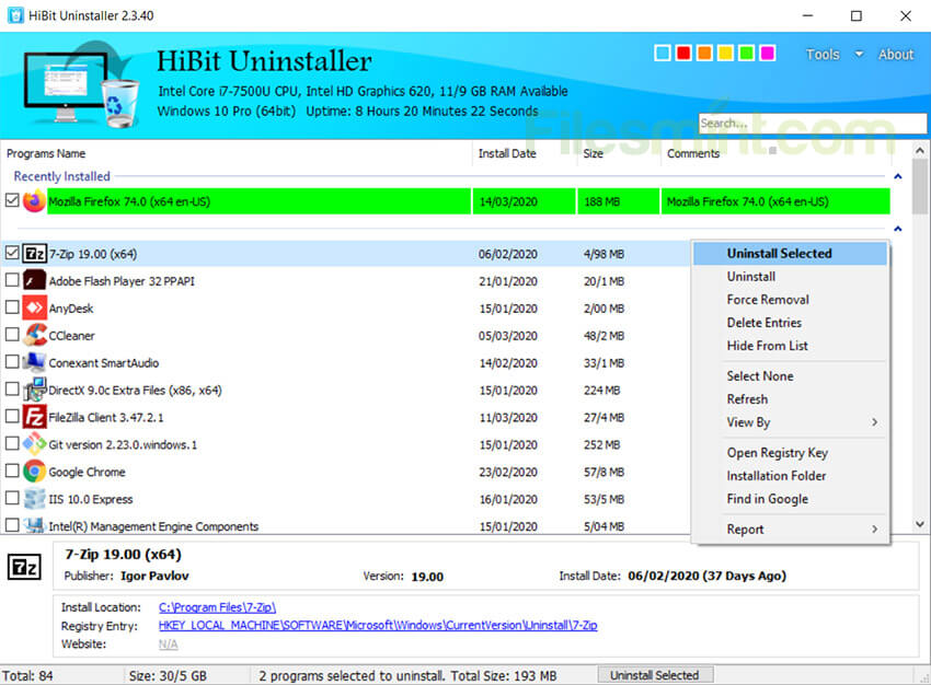 HiBit Uninstaller Screenshot