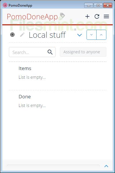PomoDoneApp Screenshot