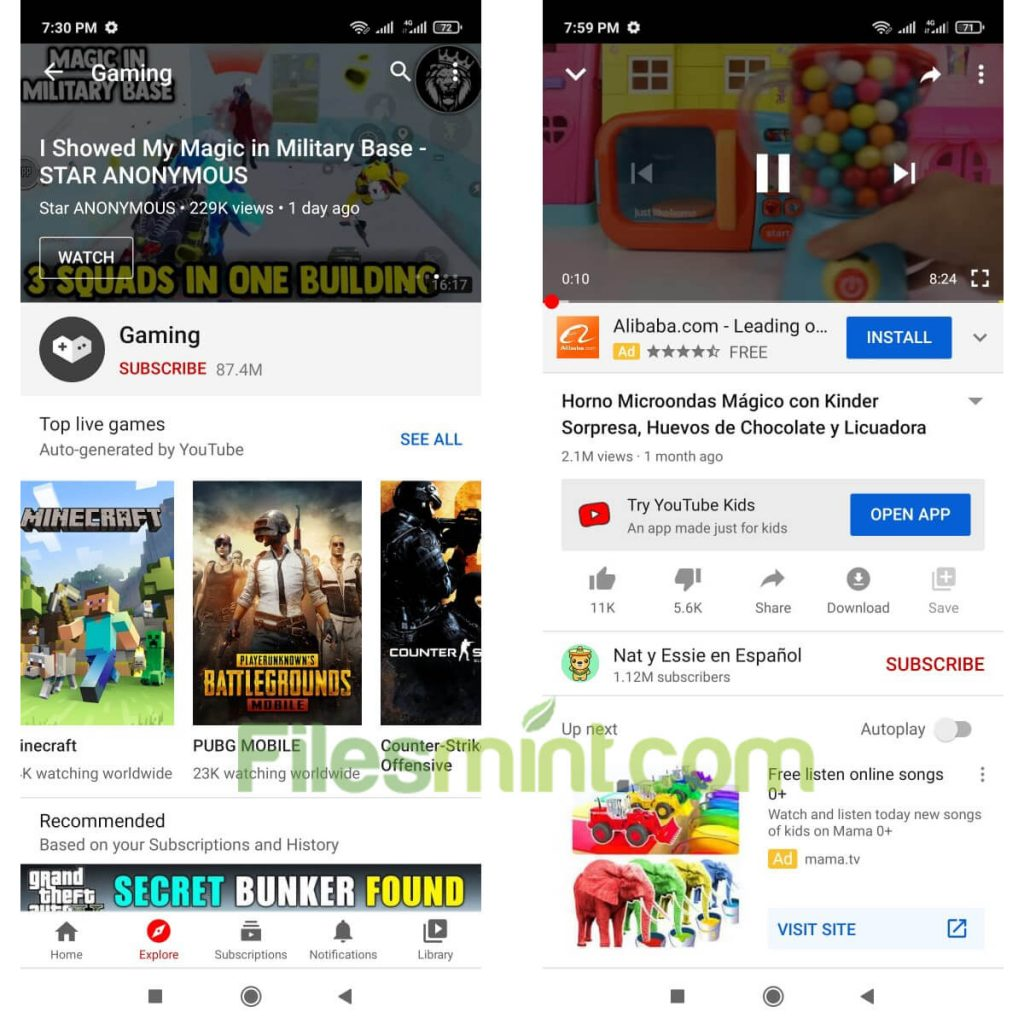 YouTube App for Android