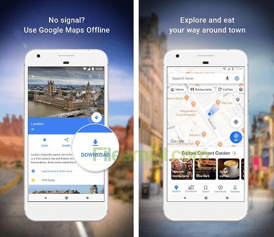 Google Maps Navigate and Explore Screenshots