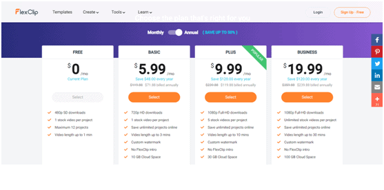 FlexClip Price
