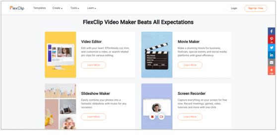 FlexClip Screenshot